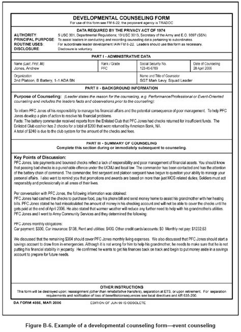 initial counseling template 9 best photos of da form 4856 army counseling form 4856
