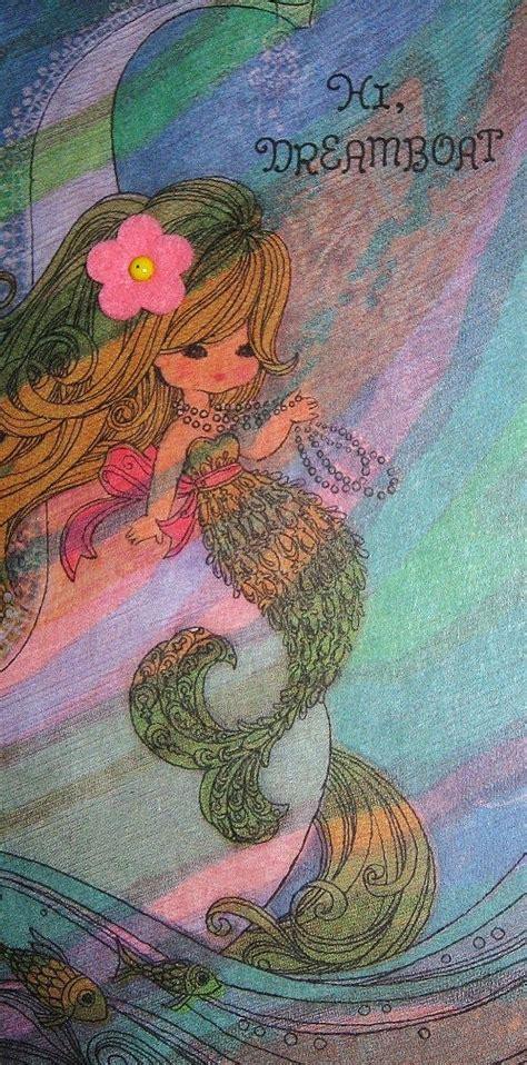 Mermaid Birthday Card Vintage 1960 S Mermaid Birthday Card Ellas F 248 Dselsdag