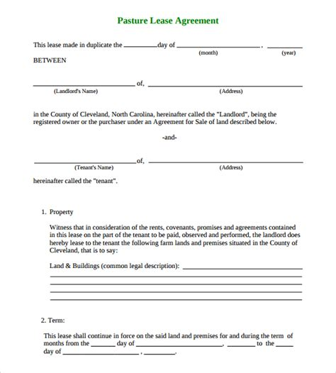 sle land lease agreement 15 free documents in pdf word