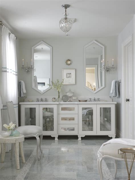 mirrored bathroom vanity cabinets photo page hgtv