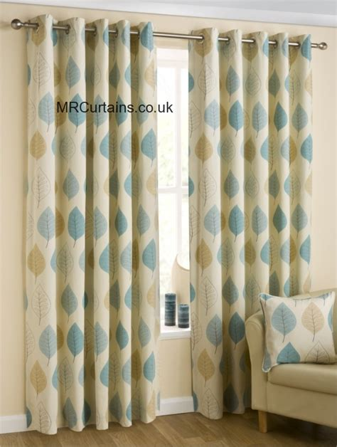 duck egg and gold curtains belfield furnishings modern leaf eyelets curtain from 163