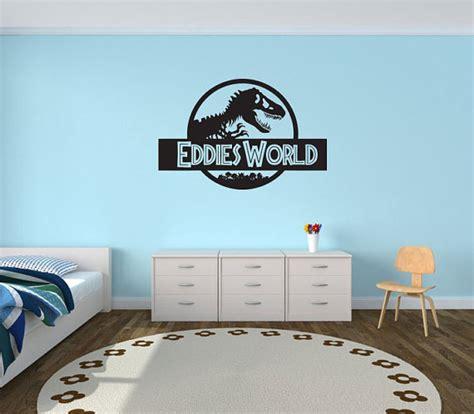 dinosaur bedroom accessories uk jurassic world wall decal custom jurassic world wall sticker