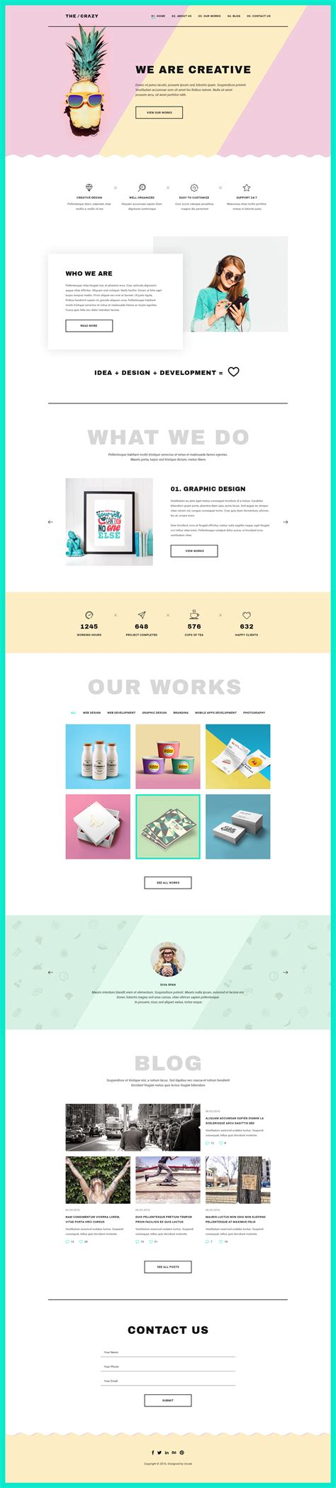 creative agency template the creative agency psd template by unvab