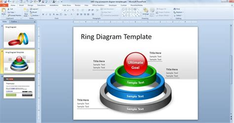 Free Ring PowerPoint Diagram Template   Free PowerPoint