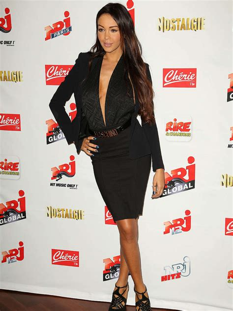 Nabilla Dress By Wearing Klamby nabilla benattia 2013 nrj press conference 03