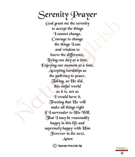 printable version serenity prayer serenity prayer wallpaper screensaver wallpapersafari