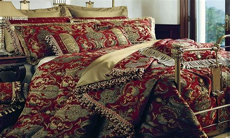 red and gold comforter set dining table mats designs three magi red and gold king