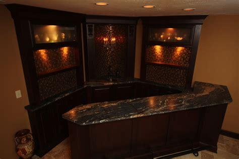 Small Kitchen Design Houzz basement bar traditional basement cleveland by