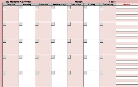 blank one month calendar template functional printable planners for your personal time