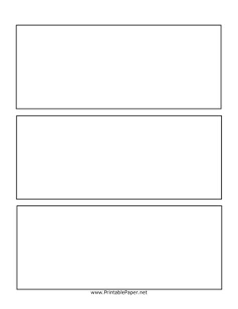 printable three row comic page