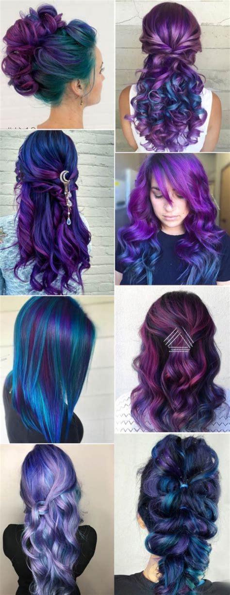 colorful hair ideas best 25 galaxy hair ideas on galaxy hair