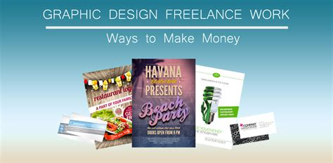 graphic design freelance work ways to make money