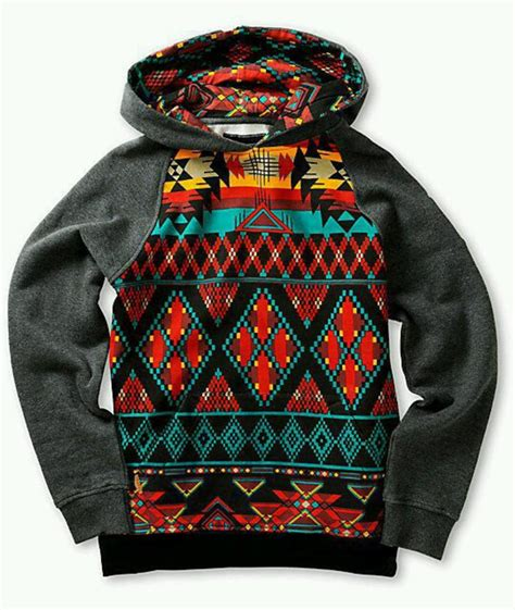 Colourful Pattern Hoodies | jacket sweater pattern aztec colorful hoodie winter