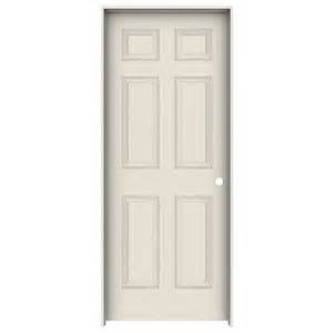 reliabilt 6 panel textured interior single prehung door