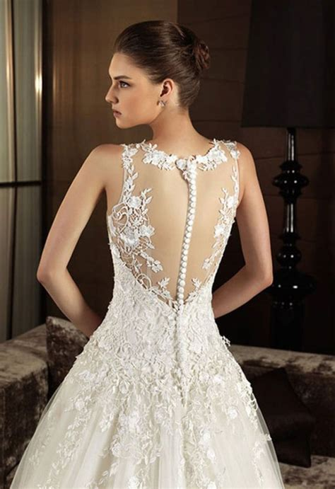 Wedding Dress Lace Back by Vintage Lace Wedding Dresses With Open Back Sang Maestro