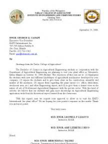 Request Letter For Company Visit Letter For Field Trip Engineering Agriculture