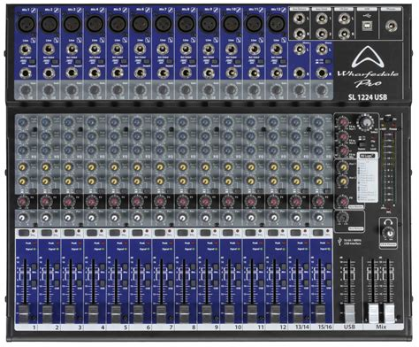 Mixer Audio 16 Channel wharfedale sl1224 usb mixer 16 channel audio mixing desk