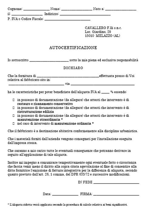 porte interne iva 10 autocertificazione pdf iva agevolata