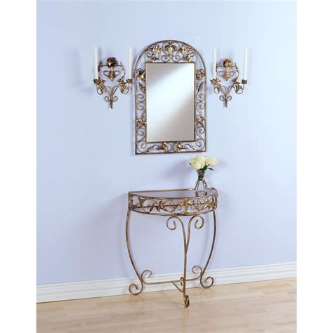 sconces and mirrors home decoration club 4 pc gold console mirror sconce set 48029 wall art