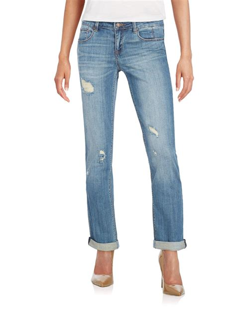 design lab jeans sold design lab bryant park best friend jeans in blue lyst