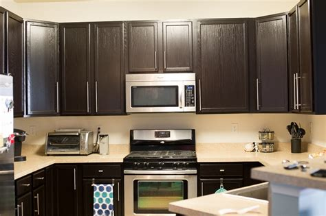 kitchen in java gel stain and gel top coat general