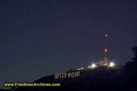 hollywood sign radio tower hollywood sign and transmitter tower at night