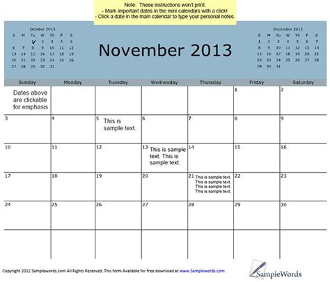 blank calendar template november 2013 search results for printable 3 month calendar 2013