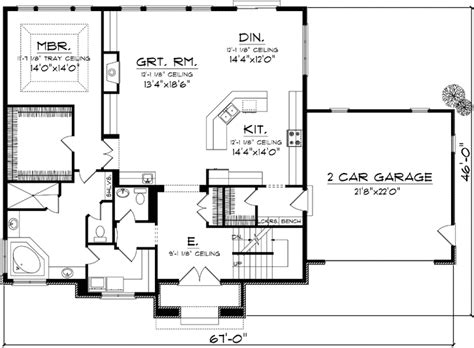 Tudor Style House Plans 2393 Square Foot Home 2 Story 2 Story House Plans Open Below