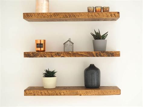 rustic wood floating shelves order online great value