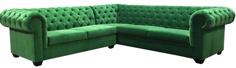 green l sectional velvet designer8