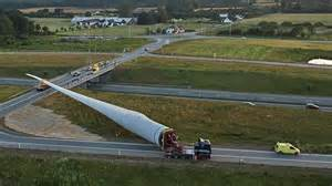 The quest for cleaner energy means the giant wind turbine blades being