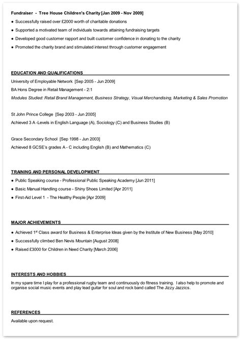 cv 1 page exle personal statement exles undergraduate research paper topics