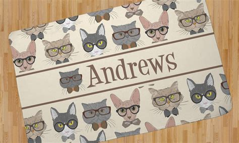 cat area rug cats area rug 4 x5 personalized youcustomizeit