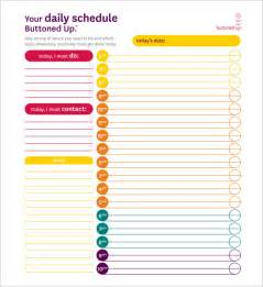 Schedule Template Pdf by Daily Schedule Template 7 Free Sle Exle Format