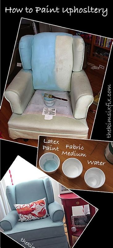 paint upholstery with latex paint how to paint upholstery latex paint and fabric medium