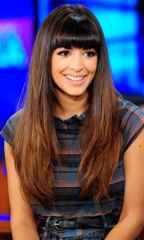indian hairstyles with bangs hannah simone makes me consider bangs they are so cute on