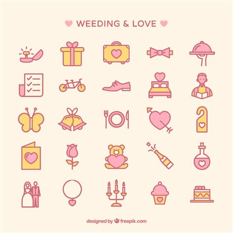 Wedding Icon by Wedding Icons Collection Vector Premium