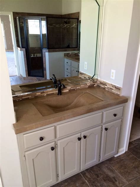 Concrete Countertops Bathroom Vanity Concrete Vanity With Wave Sink Concrete Countertops Pinterest Sinks Vanities And Waves