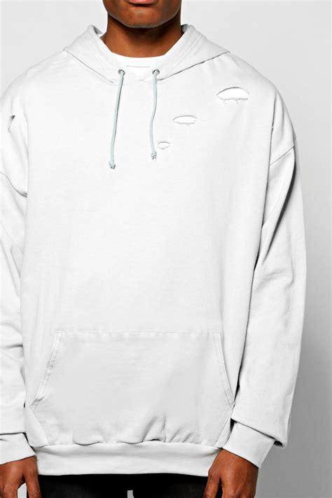 boohoo mens destroyed oversized hoodie ebay