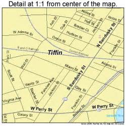 Tiffin Ohio Map by Tiffin Ohio Street Map 3976778