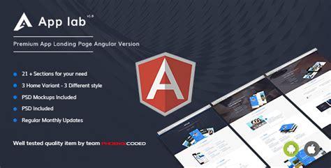 Applab Premium App Landing Page Angular Version By Phoenixcoded Themeforest Angular Landing Page Template