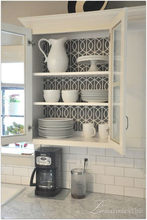 wallpaper kitchen cabinets 30 creative wallpaper uses and project ideas