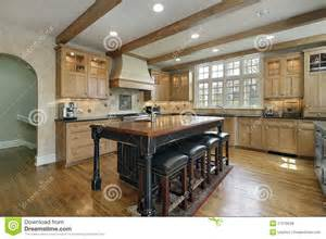 Kitchen Centre Island by Kitchen With Center Island Royalty Free Stock Photos
