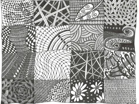 pattern drawing exles zentangle animals