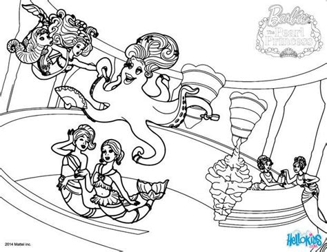 Madame Ruckus The Octopus Coloring Pages Hellokids Com Pearl Princess Coloring Pages