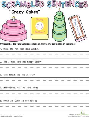 Scrambled Sentences Worksheets by Worksheets Scrambled Sentences Worksheets Opossumsoft