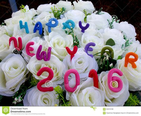 new year flower background new year 2016 stock photo image 63015108