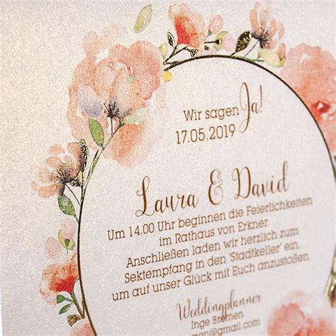 Hochzeitseinladung Mustertext by Hochzeitseinladung Quot Irene Quot Weddix De