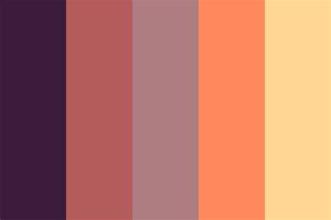 color palettes angels at sunset color palette