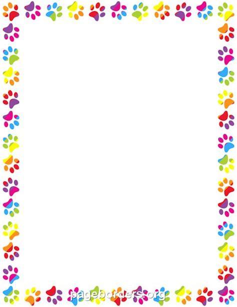 printable poster borders printable rainbow paw print border use the border in